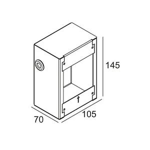Delta Light Concrete Box 183
