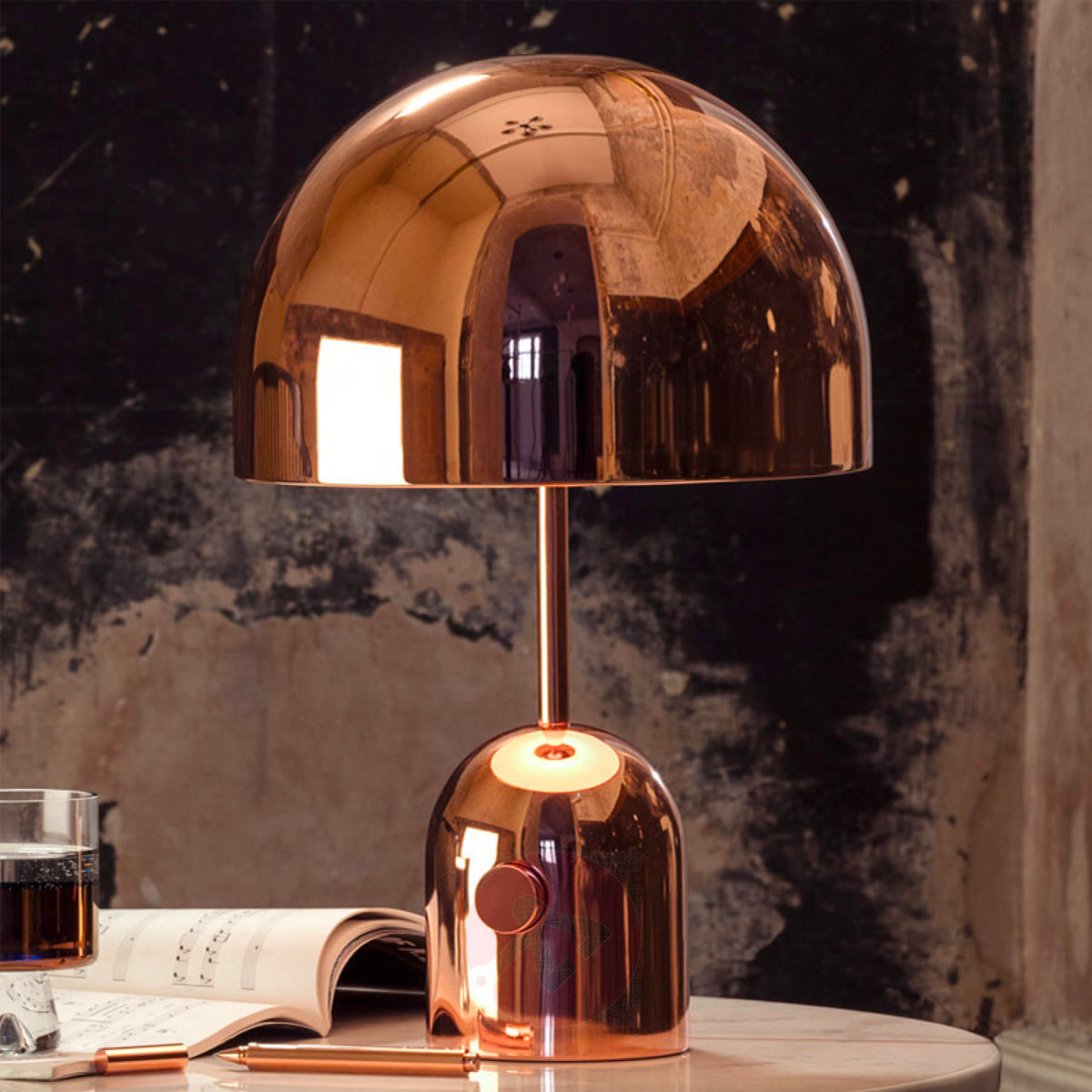 Metallic Kleur Koper - Tom Dixon Bell Table Copper