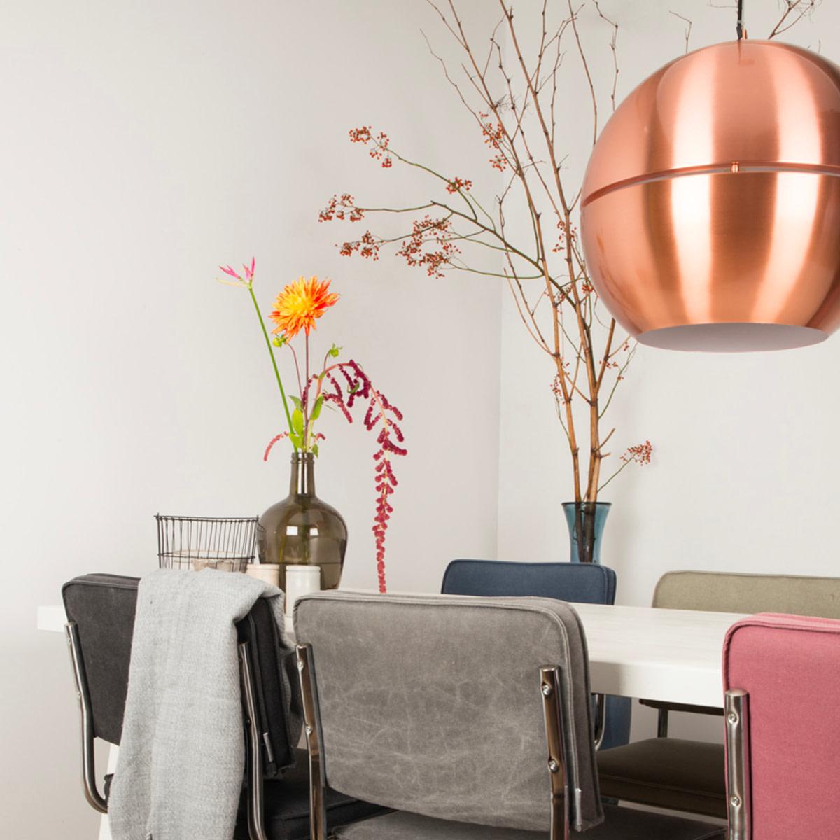 Metallic kleur Koper - Zuiver Retro 70 hanglamp