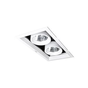 Keylight Square inbouwspot 2xGU10/LMR50